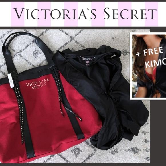 Victoria s Secret XL Bag + FREE GIFT  SATIN KIMONO fd366aa32
